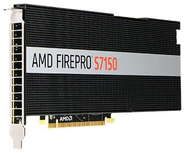 AMD FIREPRO S7150 8GB GDDR5 PCIE 3.0 16X ACTIVE              IN CTLR (100-505929)