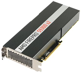 AMD FIREPRO S9300X2 8GB GDDR5 PCIE 3.1 16X PASSIVE             IN CTLR (100-505950)
