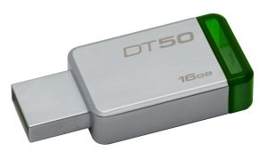 16GB USB 3.0 DataTraveler 50 Metal/ Green