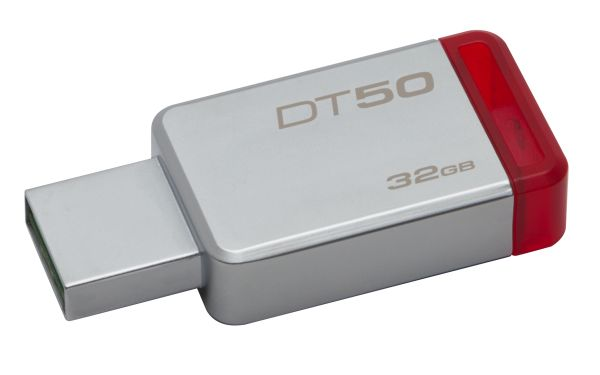 32GB USB 3.0 DataTraveler 50 Metal/Red