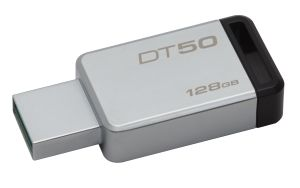128GB USB3.0 DataTraveler 50 Metal/ Black