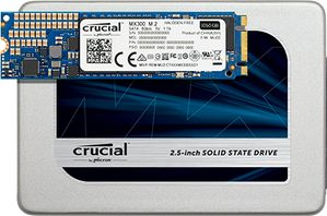 Crucial® MX300 275GB M.2 Type 2280 SSD M.2, type 2280 SSD, SATA 6GB/s, 530MB/ 500MB read/ write