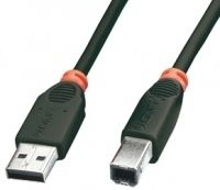 USB 2.0 Kabel A/B schwarz 3m Typ A/B, Full/Low Speed