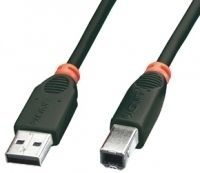 USB 2.0 Kabel A/B schwarz 5m Typ A/B, Full./Low Speed