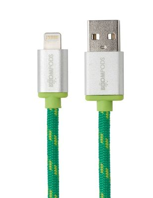 Retro Lightning to USB Cable 2,0 m green