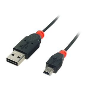 LINDY USB 2.0 Easy Fit Kabel 2m Typ A / Mini-B (31177)