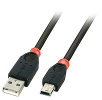 USB 2.0 Kabel A/Mini-B schw.1m Typ A/Mini-B, Full/Low Speed