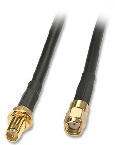 LINDY RP SMA Antennenkabel 10m M/F Low Attenuation Low Loss Kabel (35603)