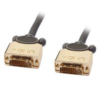 LINDY GOLD DVI-D Dual Link 3m Digital, 2x Stecker 24+1 polig (37143)