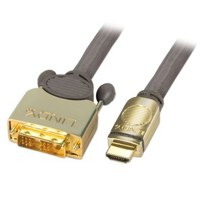 GOLD DVI-D / HDMI 5m Digital, Stecker 18+1 - Typ A
