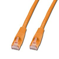 Cat.6 UTP Kabel, orange, 1m