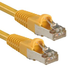 Cat.5e FTP Kabel, gelb, 0,5m Gigabit Ready
