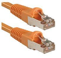 Cat.6 S/FTP Kabel, orange, 15m Patchkabel