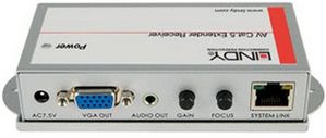 AV Cat.5 Receiver Pro 250m @1280x1024 VGA & Audio RJ45