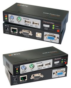 LINDY Ca5 KVM Extend Combo mit KVM Switches USB-PS/2 VGA bis 300m (39378)