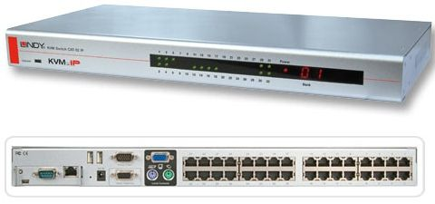 KVM Switch CAT-32 IP USB&PS/2 Cat.5 KVM 32Ports, IP