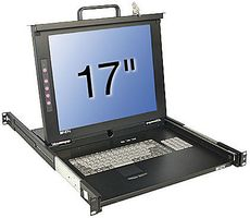 "17""LCD KVM Terminal Classic IT 19""1HE Single Rail Schublade"