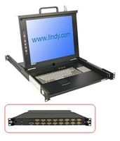 "17""LCD U16C KVM Switch Classic DE 19""1HE Single Rail mit"