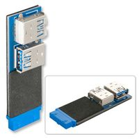 LINDY USB 3.0 Mainboard Adapter USB 3 ICC Header auf 2xUSB A F (33472)