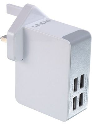 4 Port USB Schnellladeadapter Multi-County