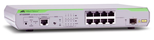 AT-GS908M LAYER 2 SWITCH 8 X 10/ 100/ 1000MBPS PORT MANAGED IN