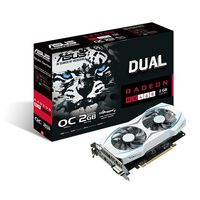 Radeon RX 460 DUAL OC Grafikkort,  PCI-Express 3.0, 2GB GDDR5, DL-DVI-D, HDMI, DP, OC-version