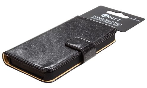 UNIT Flip case glitter IP5 – blackPU (UNIT-GCIP5-BL)