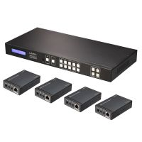 HDMI & IR Cat.6 Extend 4x4 Matrix Komplettsystem 4K30 IR