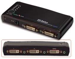 HDTV DVI & Audio Switch 4 Port, Fernbedienung