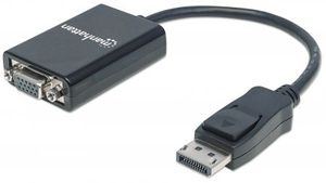 DisplayPort Adapter St/Bu DP->HD15, schwarz
