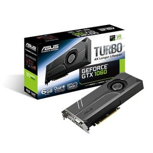 ASUS GeForce GTX 1060 TURBO Grafikkort,  PCI-Express 3.0, 6GB GDDR5, DL-DVI-D, 2xHDMI 2.0, 2x DisplayPort (TURBO-GTX1060-6G)