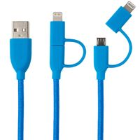Duo Lightning & Micro to USB Cable 1,0 m blue