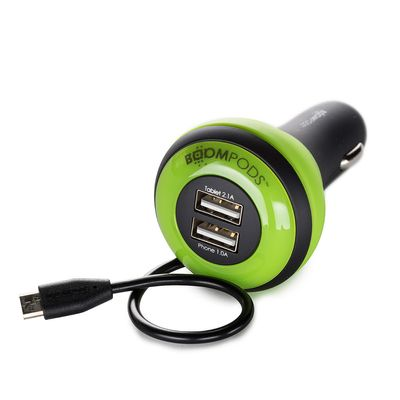 Carpod Car Charger 4 Amp Micro-USB green