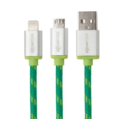 Retro Micro-USB to USB Cable 1,0 m green