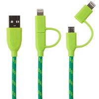 Duo Lightning & Micro to USB Cable 1,0 m green