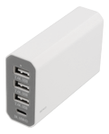 DELTACO 3USB + 1 Type C charger White