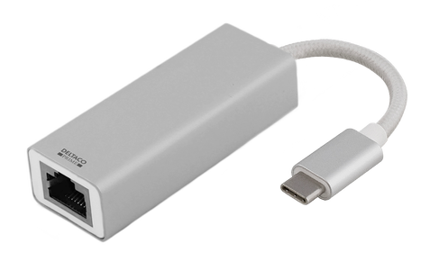 DELTACO Adapter USB to Network, Silver (USBC-1077)