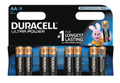 DURACELL Ultra Power, LR06/AA batterier, alkaliska, 1,5V, 8-pack