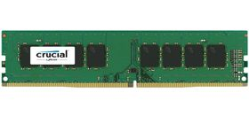 CRUCIAL 8GB KIT (4GBX2) DDR4 2400 MT/S PC4-19200CL17SRX8ECC UNB DIMM288 MEM (CT2K4G4WFS824A)