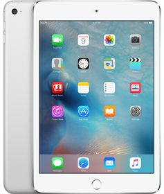 "iPad Mini 4 7.9"" Cell 32GB Sølv Wi-Fi + Cellular, 7.9"" Retina Skjerm, 8MP/1.2MP kamera, iOS"