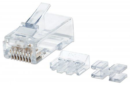 INT Modular Plug, Cat6A, RJ45with liner, unshielded 15u 80 sol