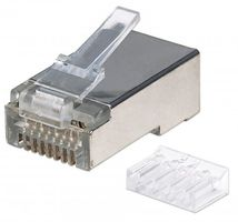 INT Modular Plug, Cat6, RJ45with liner, shielded 15u 90st stran
