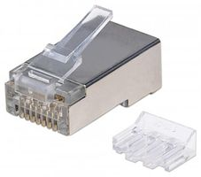 INT Modular Plug, Cat6A, RJ45with liner, shielded 15u 80 strand