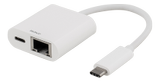 DELTACO USB 3.1 Gen 1 Gigabit adapter, USB-C, 3A 60W, white