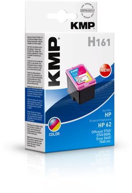 H161 ink cartridge 3-colours compatible mit HP C2P06AE No. 62