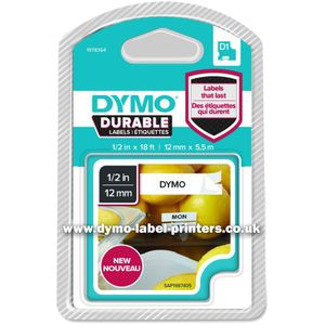 DYMO D1 tape Extra Strong 12mmx5,5m black/ white (1978364*6)