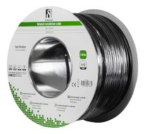 Cat6 Outdoor cable UUTP black 100m