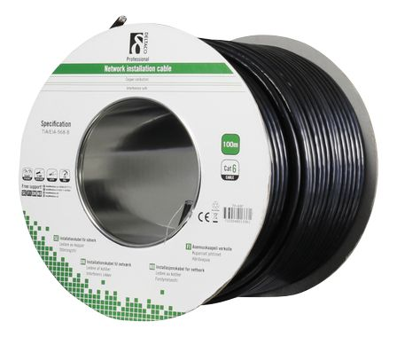 Cat6 Outdoor cable FTP black 100m