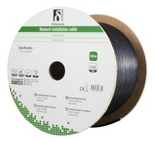 Cat6 Outdoor cable FTP black 305m