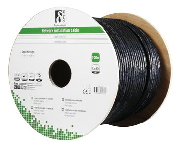 DELTACO Cat6A Outdoor cable SFTP black 100m (TP-52)
